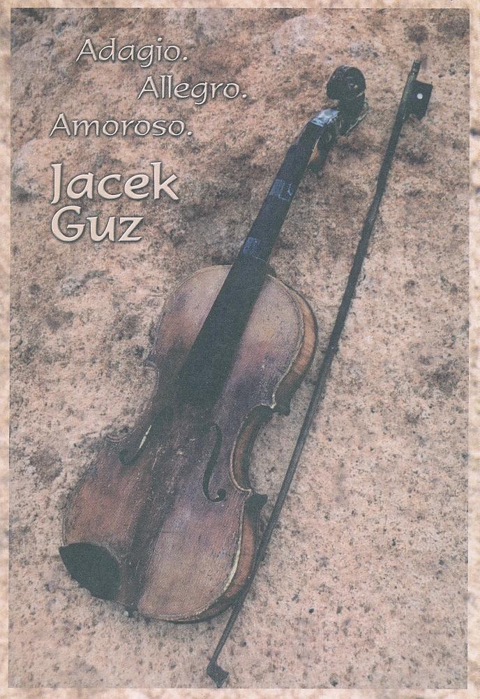 Jacek Guz, Adagio. Allegro. Amoroso, okładka