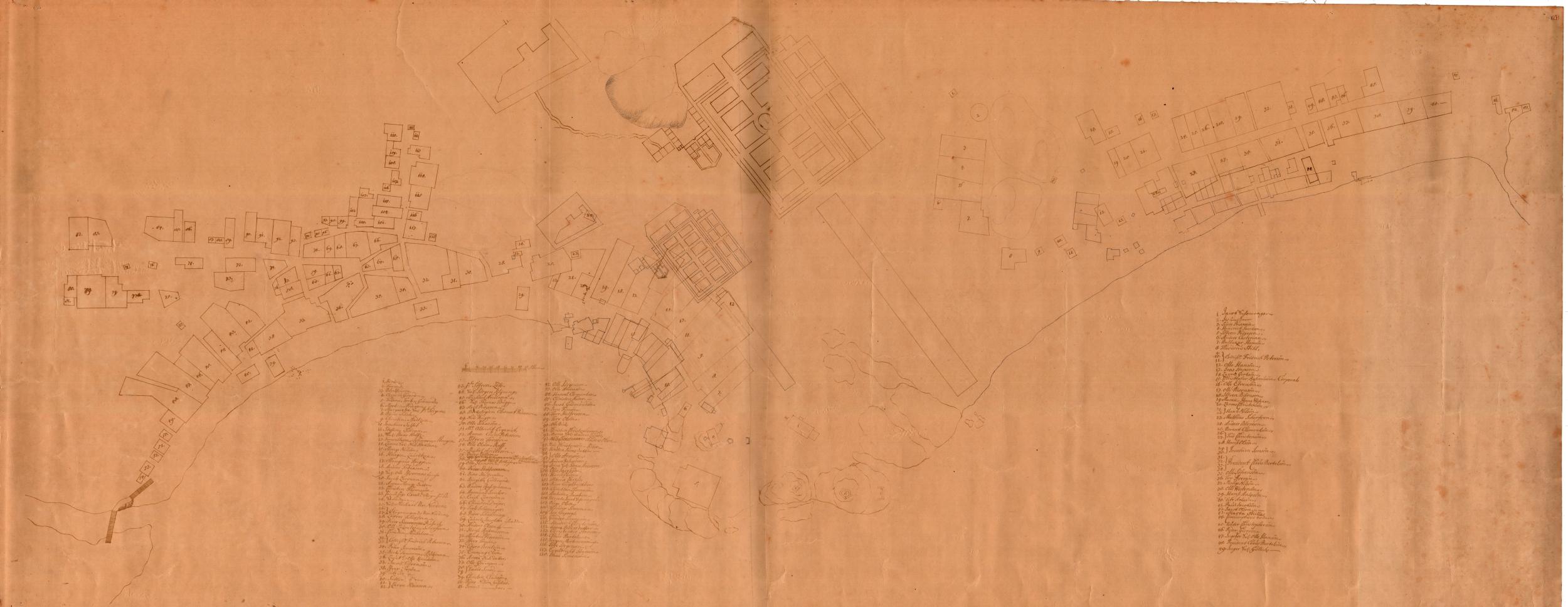 Plan Larviku datowany na 1688 rok