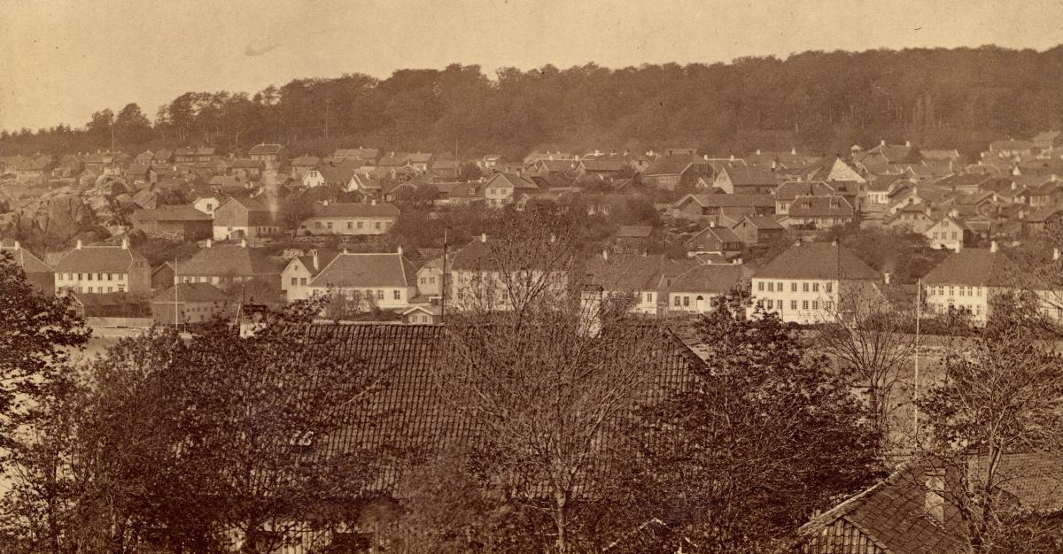 Główna ulica Larviku około 1866 roku