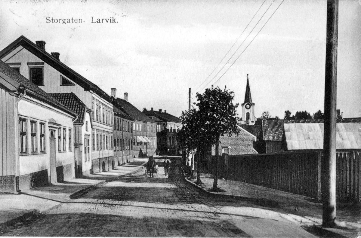 Wooden architecture in Larvik's main street