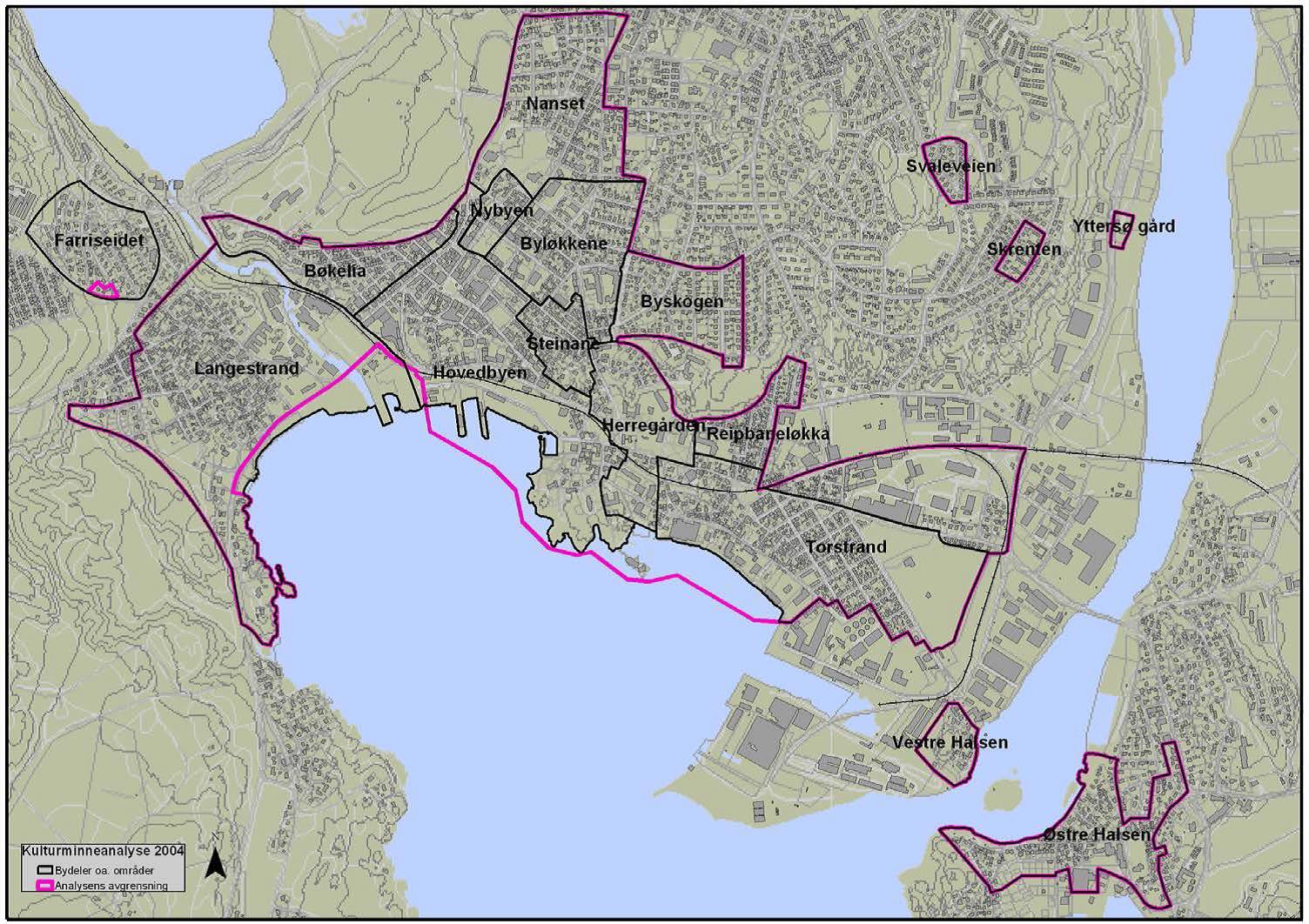 Rozwój różnych rejonów Larviku przed II wojną światową