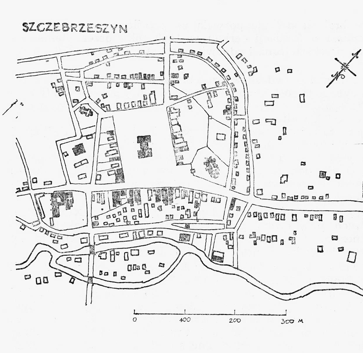 Plan Frampola. Na podstawie wstępnego planu pomiarowego Frampola z 1946 roku