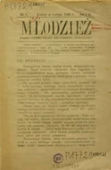 Młodzież : pismo lubelskiej młodzieży szkolnej R. 1, Nr 1 (luty 1920)