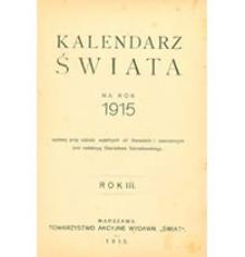 Kalendarz Świata na rok 1915