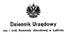 Rozporządzenie Naczelnego Komendanta Armii odnośnie do posiadania broni, amunicyi i materyałów wybuchowych