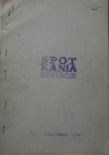 Spotkania : niezależne pismo młodych katolików, październik 1977, Nr 1