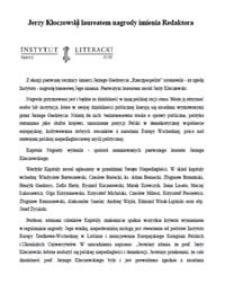 Jerzy Kłoczowski laureatem nagrody imienia Redaktora