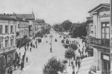 Lublin, ulica Krakowskie Przedmieście, róg ulicy Kapucyńskiej
