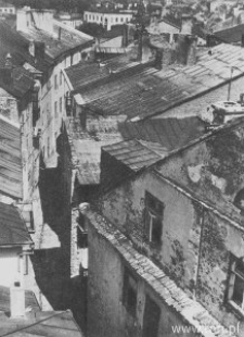 Lublin. Ulica Szambelańska widziana z Tarasu Bramy Krakowskiej