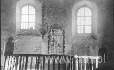 Wnętrze synagogi janowieckiej - ściana główna