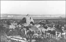 Janowiec - widok ze skarpy od strony południowo- zachodniej