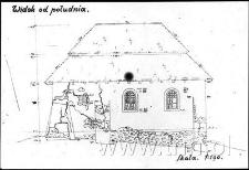 Pomiary synagogi w Janowcu, widok od południa