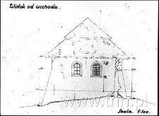 Pomiary synagogi w Janowcu, widok od wschodu