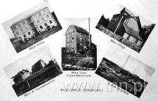 Pocztówka z widokami tartaku i młynów tomaszowskich