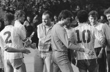 Piłkarze NZS i AZS UMCS podczas meczu 5 maja 1989 r.