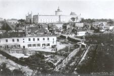 Lublin, panorama Zamku i dzielnicy żydowskiej z Placu po Farze