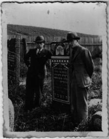 Gravestones of Chaja Nesza Gartel, on the right Szmul Gartel