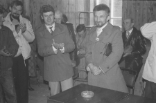 Wiec wyborczy Tadeusza Mańki w Częstoborowicach podczas kampanii wyborczej w 1989 r.