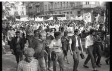 Manifestacja NZS 24 maja 1989 w Lublinie
