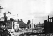 Lublin. Ruiny dzielnicy żydowskiej - ulica Podzamcze i Krawiecka
