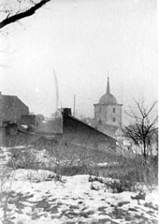 Lublin, cerkiew Przemienienia Pańskiego przy ulicy Ruskiej; widok ze wzgórza Czwartek