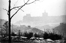 Lublin, widok na Zamek i dzielnicę żydowską ze wzgórza Czwartek