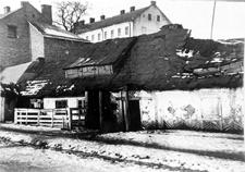 Lublin, ulica Północna, w tle budynek Szkoły Policyjnej