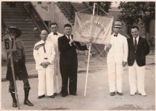 Mordko Hirschberg (man in white suit extreme left) with other co-founders of the Club Union, the social club or Ashkenazi Jews on Curacao