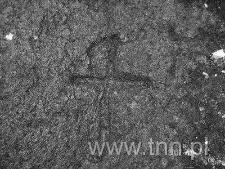 Znak na kamieniu granicznym w okolicach Wohynia
