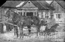 Carscy żołnierze w saniach w Wohyniu zimą 1917 r.