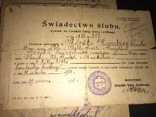 Mordko Hirschberg i Frieda Schwarzburd, marriage certificate