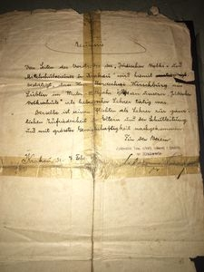 Mordko Hirschberg, list polecający