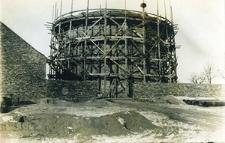 Budowa wieży ciśnień - styczeń 1927