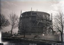 Wieża ciśnień przy Alejach Racławickich - kwiecień 1927