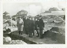 Wizytacja na placu budowy wodociągów i kanalizacji Miasteczka Akademickiego