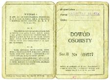 Waks Abram Mojżesz - identity card