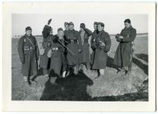 Waks Abram Mojżesz (drugi od prawej) w szkole wojskowej Saint-Cyr Coetquidan w Bretanii