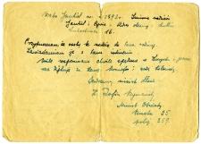 List o członkach rodziny Waks i Halbersztadt - rewers