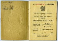 Waks Maurycy - passport