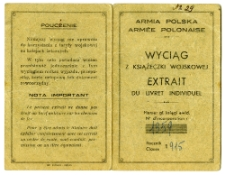 Waks Maurycy - extract from military card