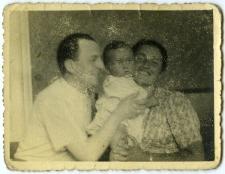 Lejb Arenzon i Ruchla Feiga Horowicz z synem Szmulem Jakubem Arenzon