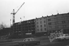 Budowa bloku mieszkalnego przy ulicy Podzamcze w Lublinie