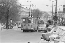 Ruch uliczny na Krakowskim Przedmieściu w Lublinie