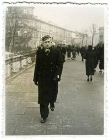 Aleksander Gantner na Placu Litewskim w Lublinie.