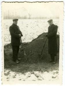 Aleksander Gantner podczas pracy przy Domu Żołnierza w Lublinie