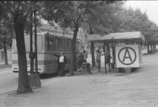 Lublin. Przystanek autobusowy przy ulicy Zamojskiej