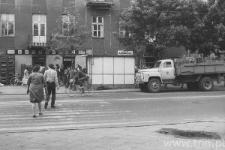 Lublin. Ulica Zamojska podczas strajków w lipcu 1980 roku