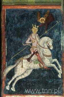 Freski Kaplicy Zamkowej - konny wizerunek Jagiełły