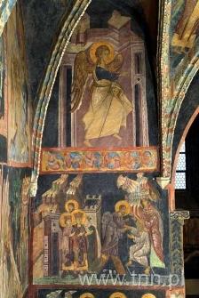 Freski Kaplicy Zamkowej - Anioł ze sceny Zwiastowania, Zstąpienie do piekieł