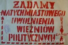 Plakat z okresu stanu wojennego